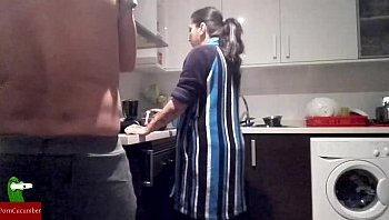 arab mom in kitchen